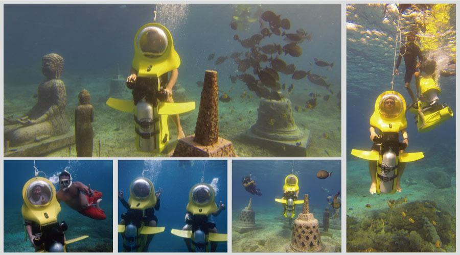 巴里岛海底总动员金银岛潜水摩托车五日游 | 岛屿旅游